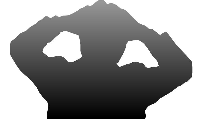 両手で頭を抱えて悩む人のフリー素材(黒グラデーション)